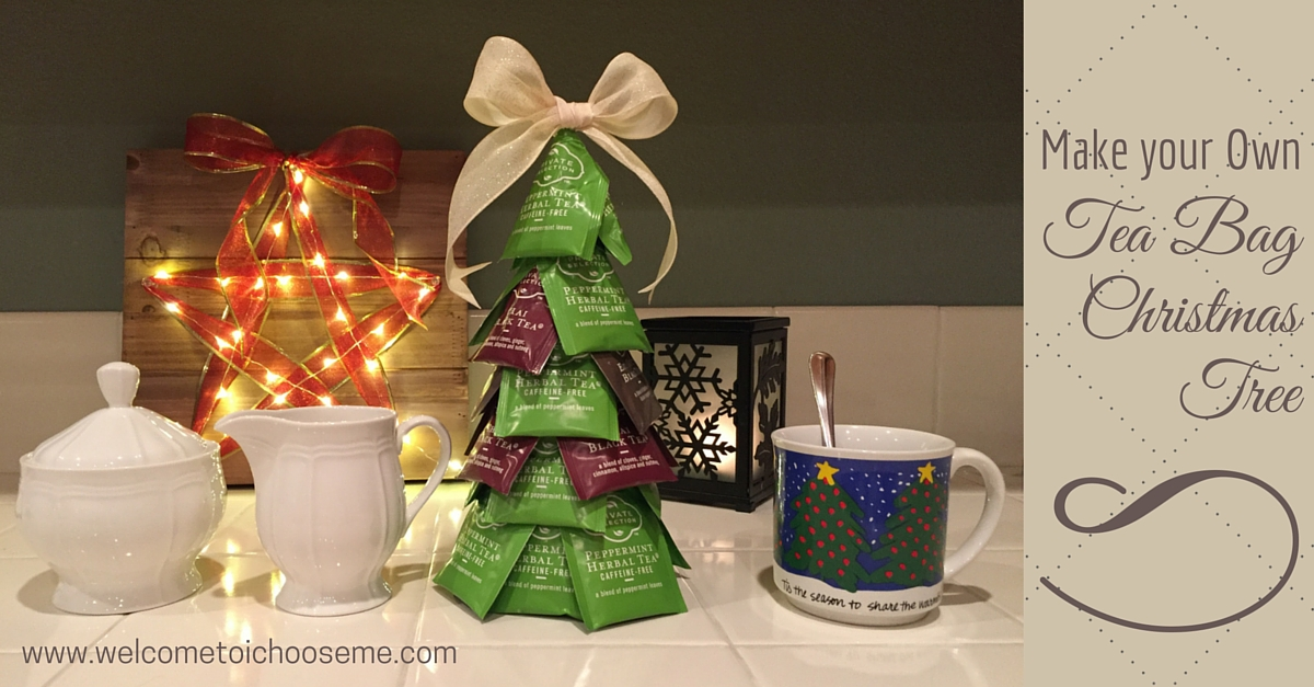 Tea Bag Christmas Tree - I Choose Me